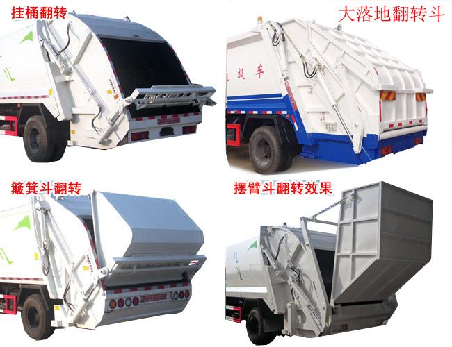 压缩式垃圾车后尾部翻转机构