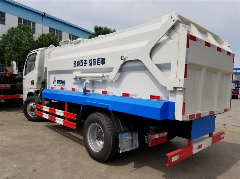 东风5方侧装压缩式垃圾车后左面图