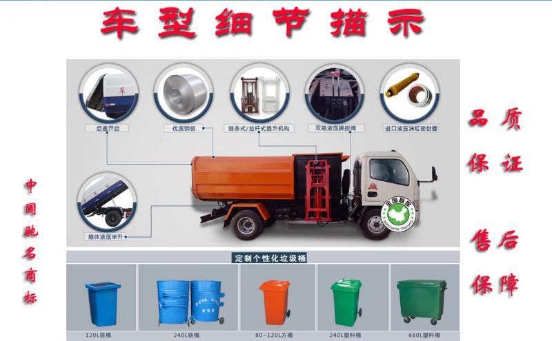 挂桶垃圾车车型细节展示