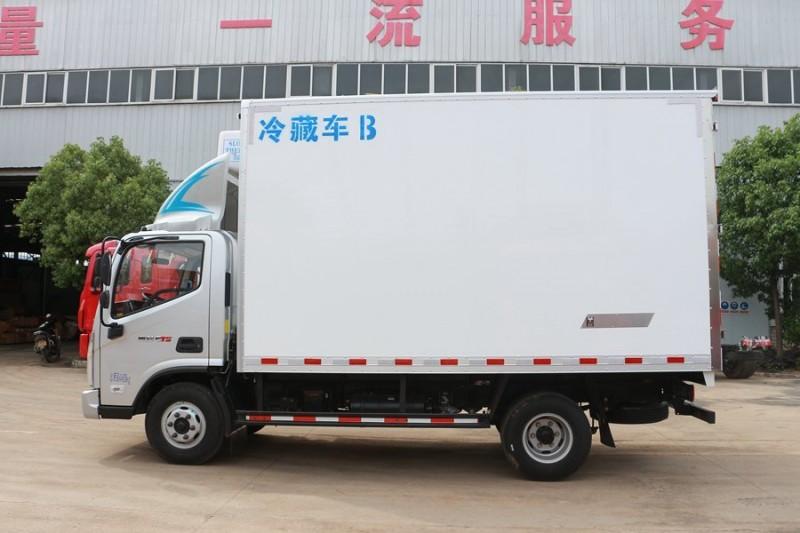 福田冷藏车正侧面图