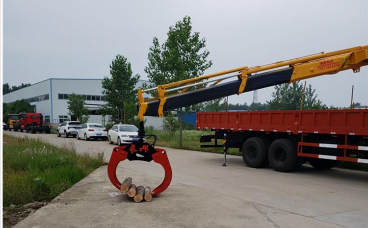 东风专底12吨随车吊作业示范图