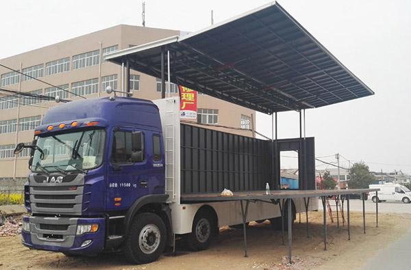 江淮小三轴大型流动舞台车图片