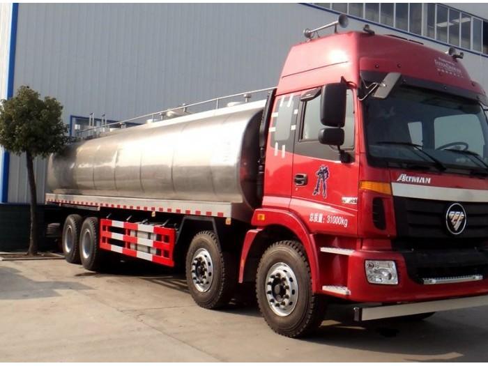 欧曼30吨前四后八鲜奶运输车