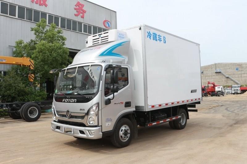 福田奥铃4.2米小型冷藏车全方位图