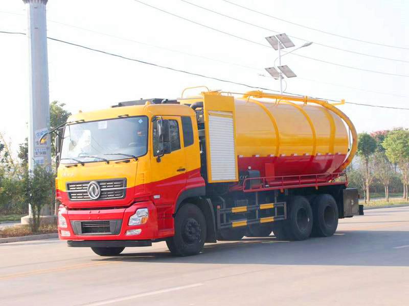 东风专底16吨清洗吸污车