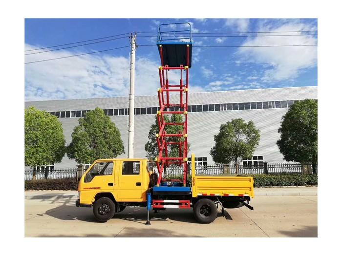 东风10米升降平台高空作业车