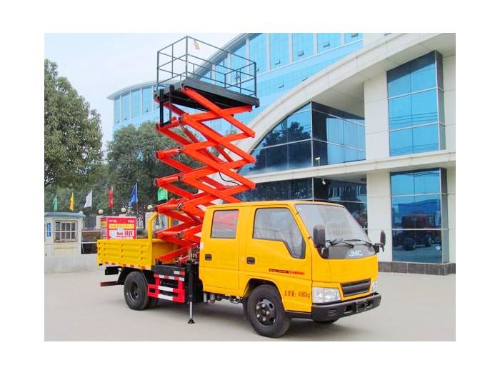 江铃顺达剪叉式高空升降平台车(6-12米)