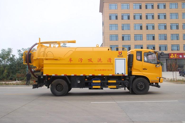 东风天锦12方清洗吸污车