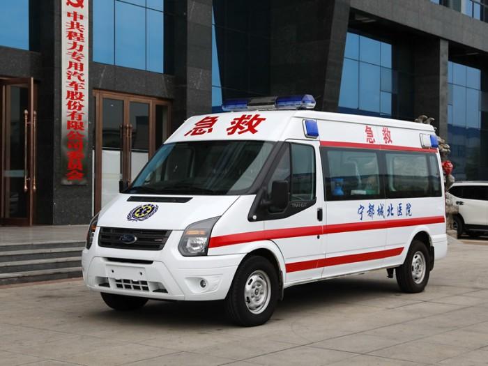 福特全顺新世代V348长轴中顶运输型救护车
