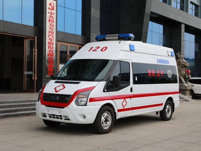 福特新世代V348短轴柴油运输型救护车