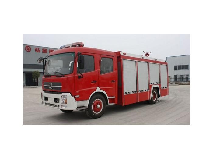 东风145消防车5-6吨水罐泡沫消防车